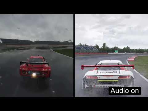 Forza 7 VS Project CARS 2 (Audi R8 GT3, Rain Comparison)