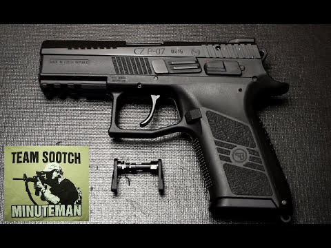 CZ P07 & P09 Decocker Safety Conversion Installation