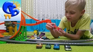 Набор машинок Хот Вилс батл трек Барего и трек Хот Вилс Set Hot Wheels with track Burago
