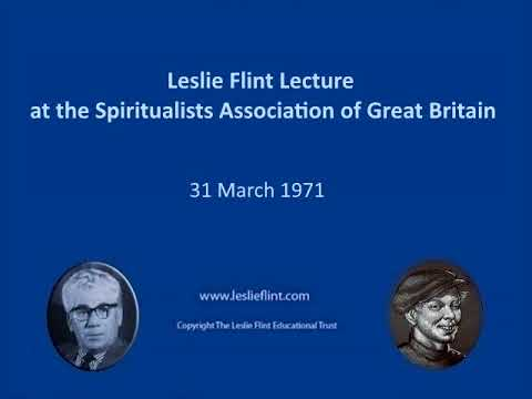31 March 1971 Leslie Flint Lecture at the Spiritualists Association of Great Britain
