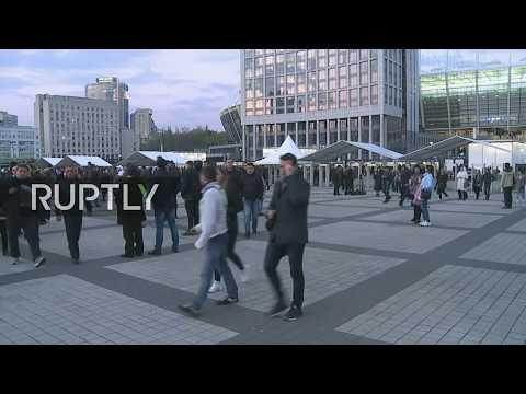 LIVE: People depart from Kiev's Olympic stadium after Poroshenko-Zelenskiy presidential debate