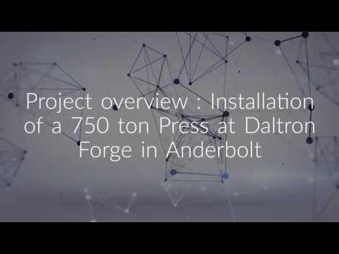 750 TON Press Installation