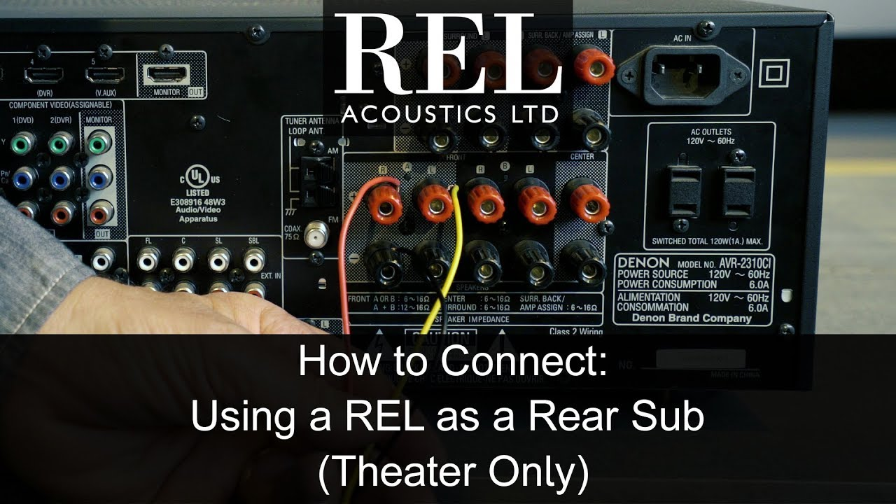 rel acoustics how to connecting a rel as a dedicated rear subwoofer rh youtube com