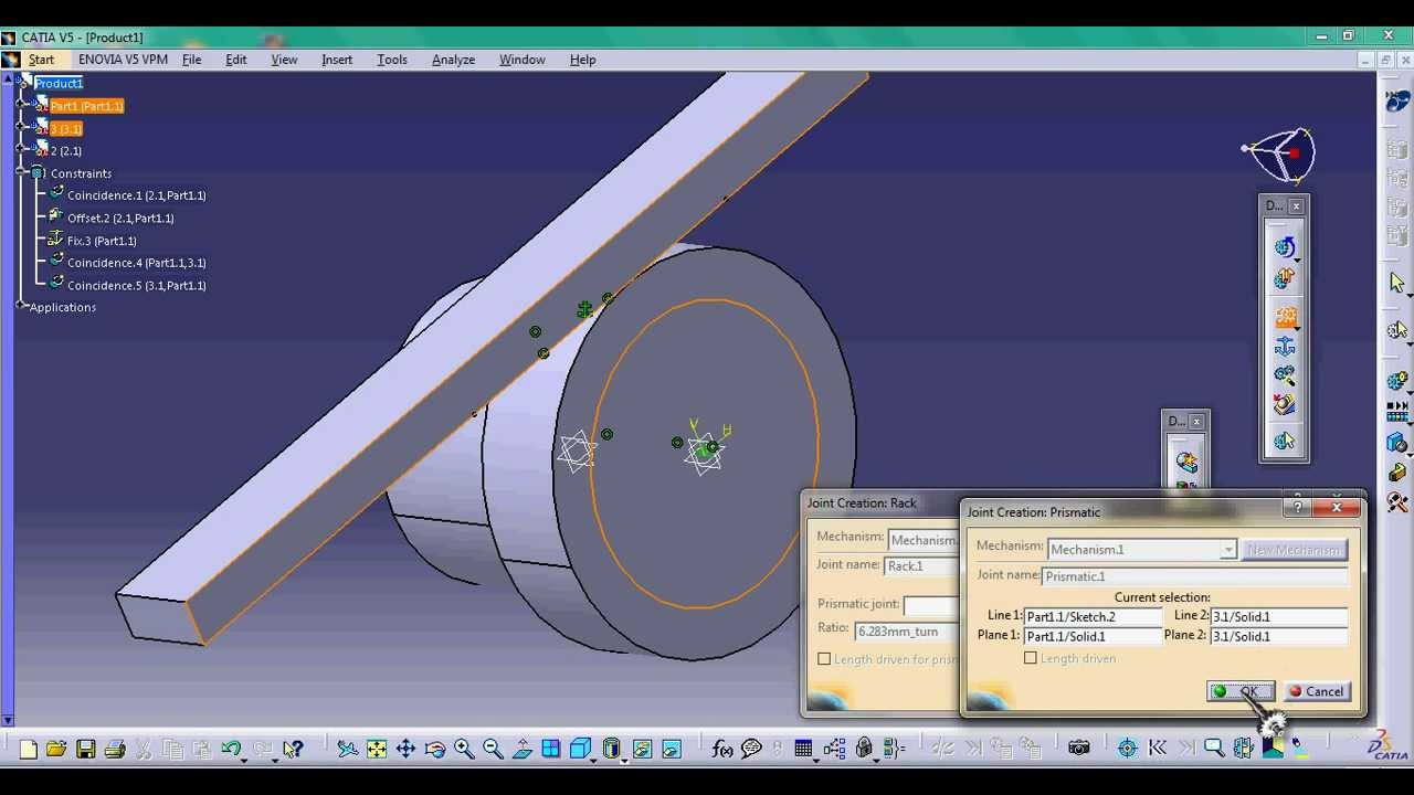 Rack Joint Complete Tutorial In Catia V5