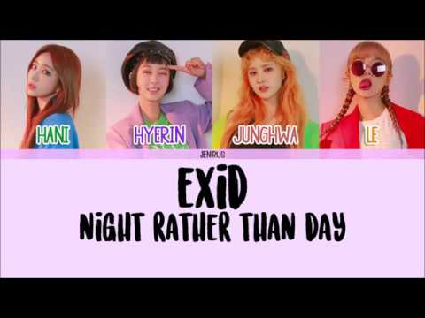 EXID - Night Rather Than Day [Han/Rom/Eng] Color Coded HD