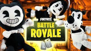 LP Movie: Bendy, Alice and Boris plays FORTNITE: Battle Royale in REAL LIFE!