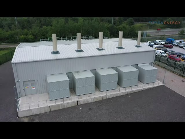 20MW energy Peaking Station -Chadderton Site Aerial Video.