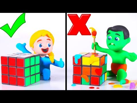Tommy And His Friends Play With Rubik's Cube 💕 Cartoons For Kids