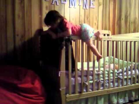 Jasmine Sean escapes from her crib