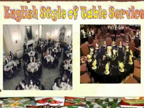 methods and types of table service