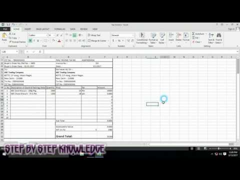 Tax Invoice | how to create tax invoice in excel step by Step | Tax invoice template
