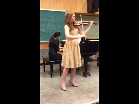 Handel Sonata No. 5 in A Major - Mary Grace Rudolph violin