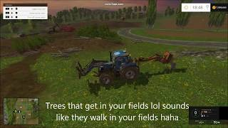 Farming simulator 2015 fast way to unload logs and fast way to remove trees with out mess