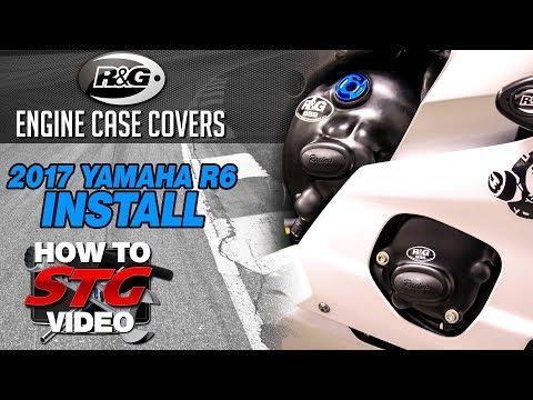 R&G Racing Engine Case Cover Kit Install on a 2017 Yamaha R6   Sportbiketrackgear.com
