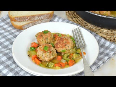 Albóndigas de pollo sin freír ¡Más sanas y ligeras!