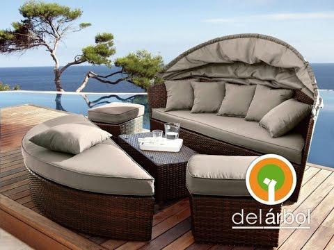 Muebles de fibra y rattan para jardin y exterior del for Fabrica muebles exterior