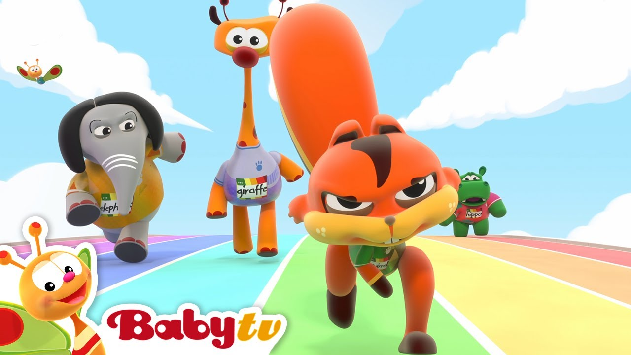BabyTV Sports Club presents the big race 100m run 🏅 |  Olympics  #Tokyo2021