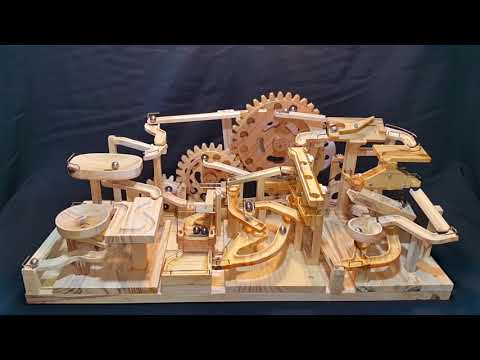 Marble Machine - Triple Gears Lift (Three Blocks Marble Race)
