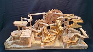 Marble Machine - Triple Gears Lift Three Blocks Marble Race