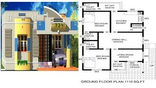 Low budget 5-10 lakhs beautiful home design and floor plan||house design and with working drawings||