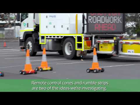 Robo Traffic Cones: Making Work Zones Safer