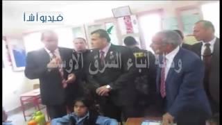 بالفيديو محافظ شمال سيناء يتفقد عددا من المدارس بدء الدراسة فى بعض مدارس شمال سيناء