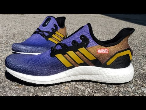 MARVEL AVENGERS ADIDAS AM4 'THANOS' DETAILED SNEAKER REVIEW