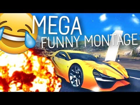 MEGA ASPHALT 8 FUNNY MONTAGE (Funny Moments and Stunts)