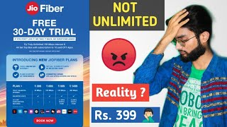 JIO Fibre is NOT Unlimited   Real Truth about Unlimited Internet in Rs 399 (30mbps)   New Plans 2020
