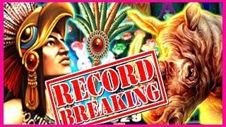 💲 RECORD BREAKING SPINS 💲 MONTEZUMA + RAGING RHINO SLOT MACHINES BIG WINS!   Slot Traveler