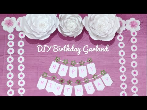 DIY Birthday Banner | Birthday Decoration Ideas At Home | Party Decorations