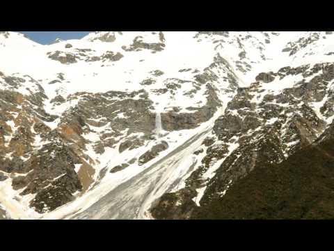 Falls of Melted Glacier, Aoraki Mt. Cook.