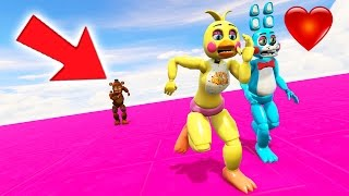 CHICA & BONNIE (IN LOVE) RUN AWAY FROM WITHERED FREDDY TOGETHER! (GTA 5 Mods FNAF Funny Moments)