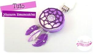 { Tuto } Macaron dreamcatcher / attrape-rêves - Polymère