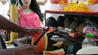 FRUIT NINJA OF INDIA,indian street food, amazing fruit cutting skills