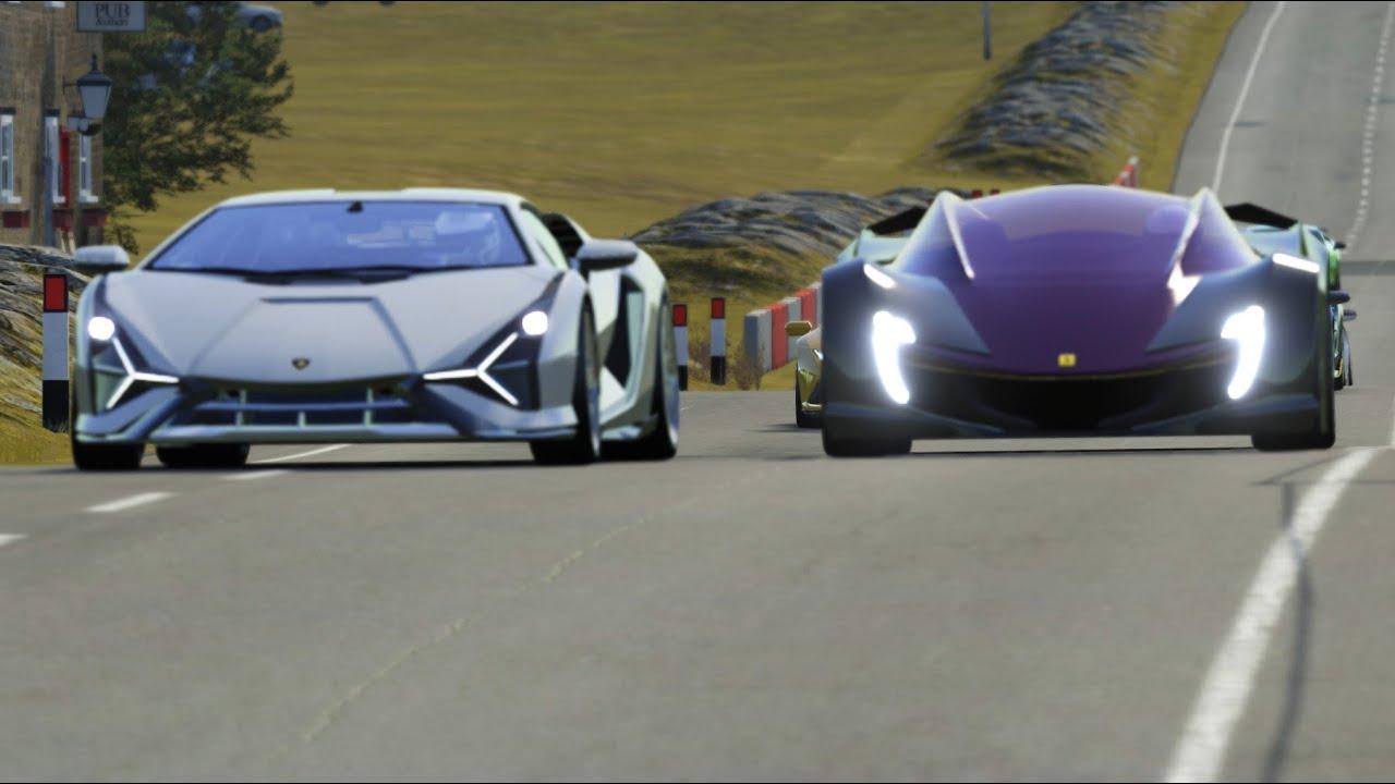 Ferrari Impronta vs Lamborghini Sports Cars at Highlands