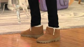 Skechers GoWalk Suede Ankle Boots w/ Faux Fur Lining with Shawn Killinger