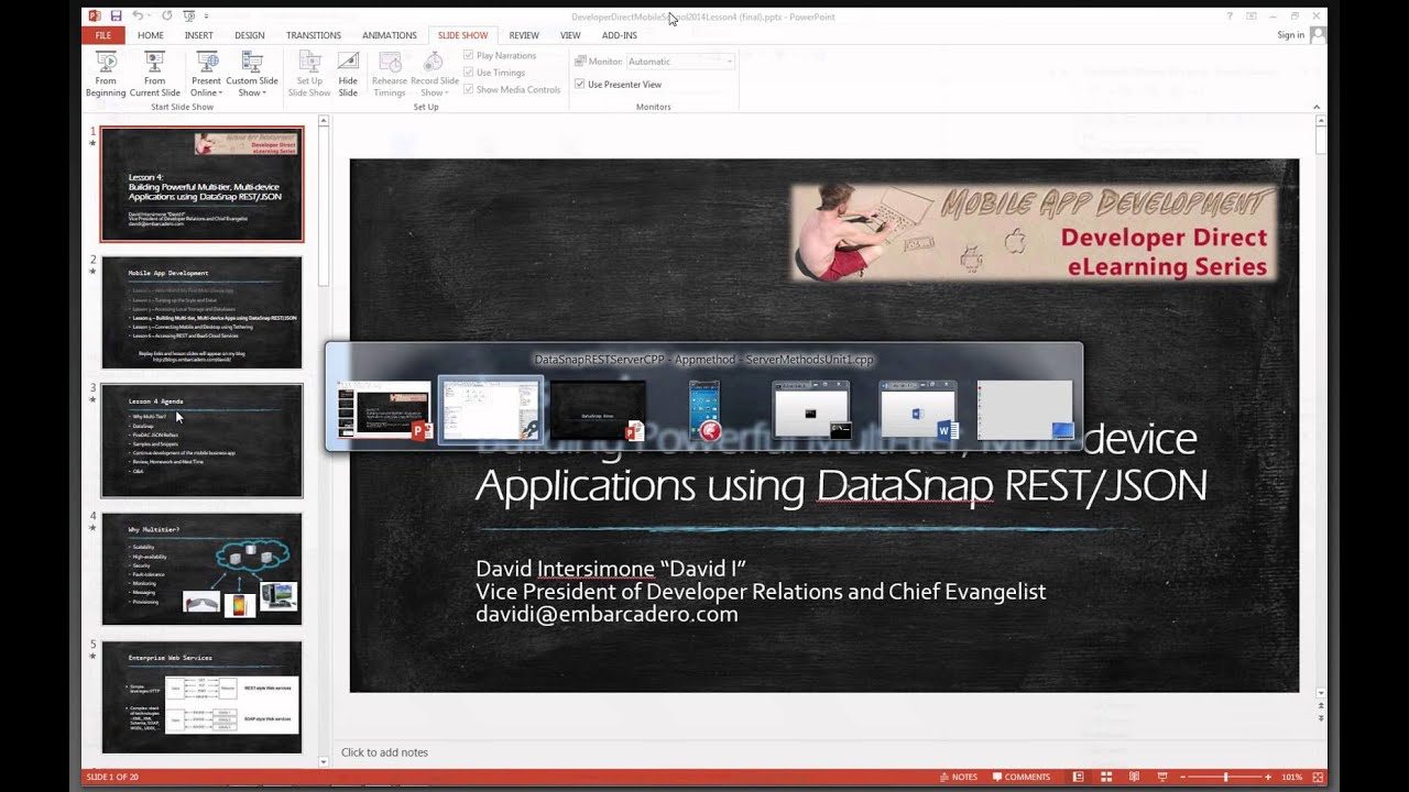 mobile summer school lesson 4 c building multi tier multi device apps with datasnap restjson