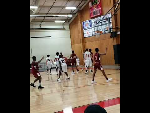 Kadon Fossett 7th grader against Frederick Christian academy  (9th/10th grade)