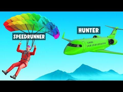 24 Hour HUNTERS Vs SPEEDRUNNER In GTA 5!