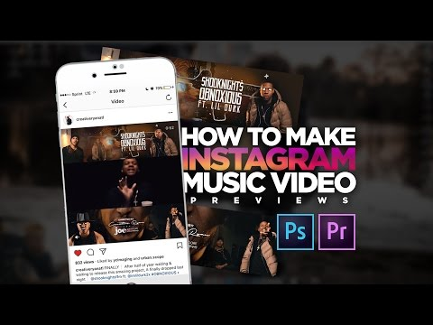 How To Make Instagram Music Video Previews! (Adobe Premiere