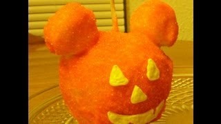 Candy Apple Mickey Mouse Pumpkin for Halloween