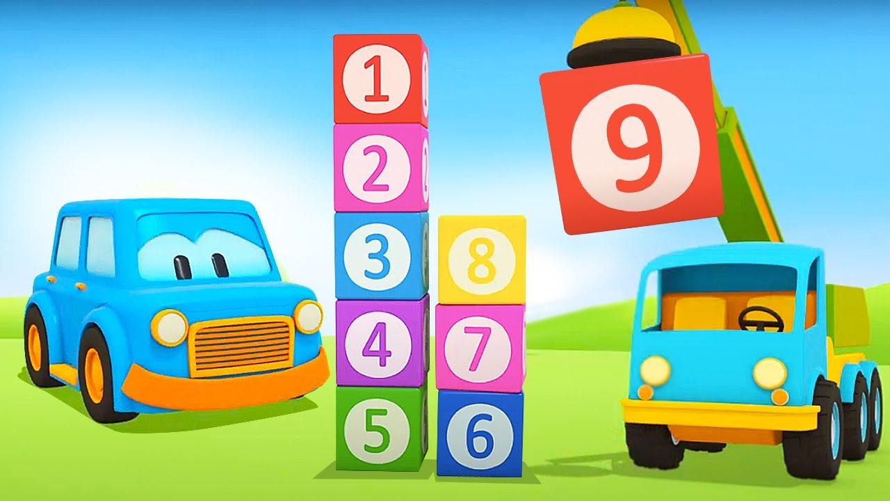 Contando até 9 com os carros inteligentes! Desenhos animados e histórias para crianças