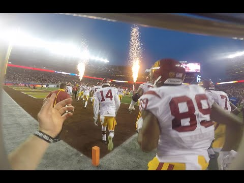 USC Football GAMEDAY - A Players Perspective (GoPro HD 2016)