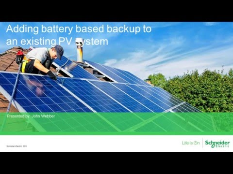 [Webinar replay] Adding Battery Backup to an existing PV sys