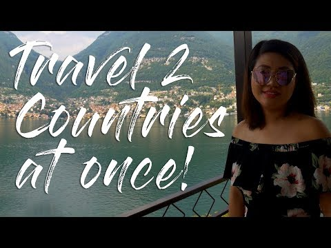 Lake Como, Italy and Lugano Switzerland in 30 minutes, travel vlog