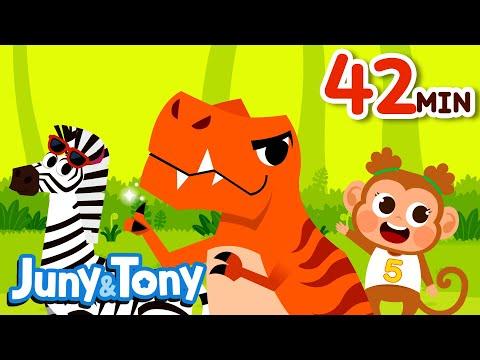Tyrannosaurus Rex and 30+ Songs | Songs for Kids | Preschool Songs | KizCastle