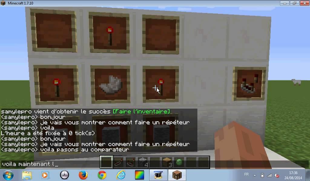 Minecraft comment faire un r p teur un comparateur un piston et un piston collant youtube - Comment faire un epouvantail ...
