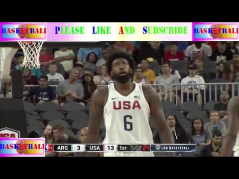 [ Sport basketball ] - Argentina - USA 2016 Olympic Men's Basketball Exhibition - PART 1