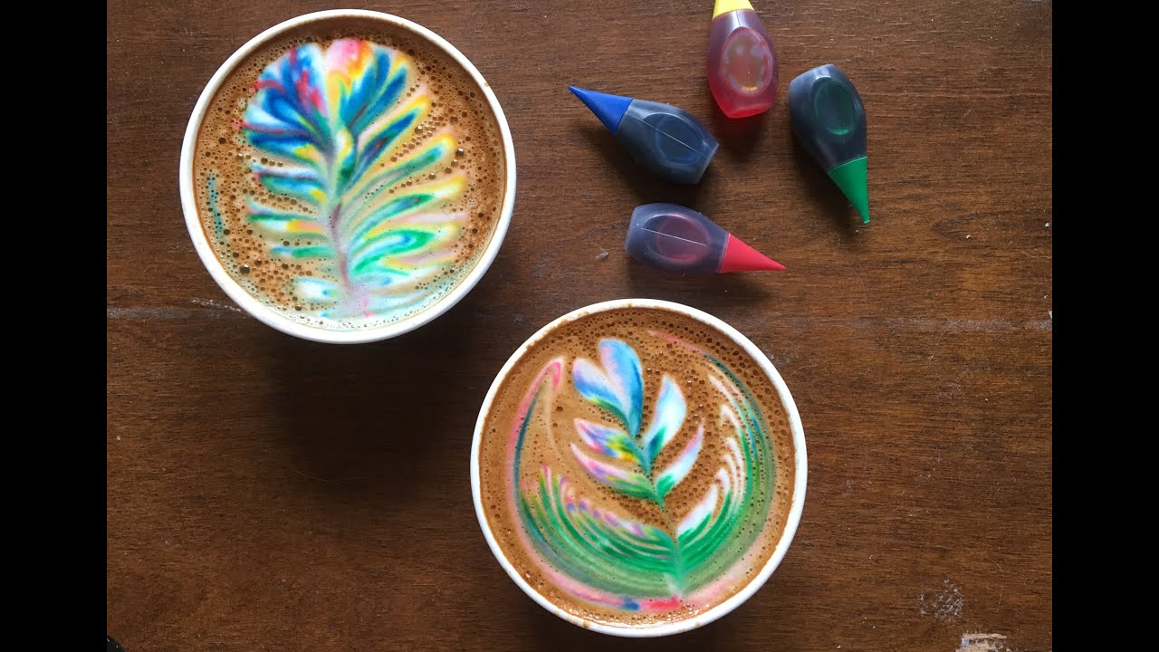 Here S How To Make A Rainbow Latte Youtube